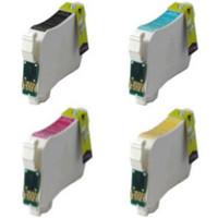 Remanufactured Epson WorkForce 60 (Epson T126) - Set of 4 High Capacity Ink Cartridges: 1 each of Black, Cyan, Yellow, Magenta
