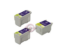 Remanufactured Epson T017201,T018201 - Set of 3 Ink Cartridges: 2 Black, 1 Color