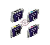 Remanufactured Epson Stylus Photo CX5400 - Set of 4 Ink Cartridges: 1 each of Black, Cyan, Yellow, Magenta