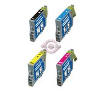 Remanufactured Epson Stylus R200/R300 - Set of 4 Ink Cartridges: 1 each of Black, Cyan, Yellow, Magenta