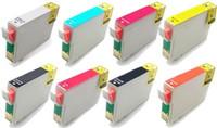Remanufactured Epson Stylus Photo R1900 Set of 8 Ink Cartridges: 1 each of Black, Photo Black, Cyan, Magenta, Yellow, Red, Matte Black, Orange