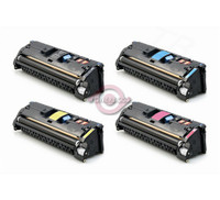 Remanufactured HP Color LaserJet 1500, 2500 Series - Set of 4 HP 121A Toner Cartridges: 1 each of Black, Cyan, Yellow, Magenta