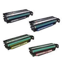 Remanufactured HP Color LaserJet CM3650, CP3564 Series - Set of 4 HP 504X Toner Cartridges: 1 each of HIGH YIELD Black, Cyan, Yellow, Magenta