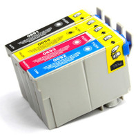 Remanufactured Epson Workforce 610 Set of 4 High Yield Ink Cartridges: 1 each of Black, Cyan, Yellow, Magenta