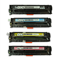 Remanufactured HP CP1215 (125A) Toner Cartridges (CB540A, CB541A, CB542A, CB543A) Set of 4: Black, Cyan, Yellow, Magenta
