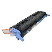Remanufactured HP Q6001A Cyan Laser Toner Cartridge - Replacement Toner for HP Color LaserJet 1600, 2600, CM1015, CM1017