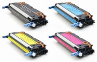 HP 501A / 502A Toner Cartridges 4Pack (CYMK) For HP Color LaserJet 3600