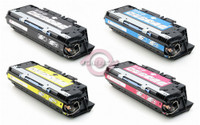 Remanufactured HP Color LaserJet 3700 - Set of 4 Laser Toner Cartridges: 1 each of Black, Cyan, Yellow, Magenta