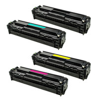 Remanufactured HP 410A Laser Toner Cartridges - Replacement 4-Color Toners for Color LaserJet M477fdn, M452DN