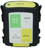 Compatible HP C4913A (HP 82 Yellow) Yellow Ink Cartridge