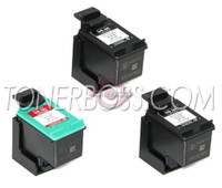Remanufactured HP C8765WN,C9363WN - Set of 3 Ink Cartridges: 2 Black, 1 Color