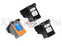 Remanufactured HP C9364WN,C9369WN - Set of 3 Ink Cartridges: 2 Black, 1 Color