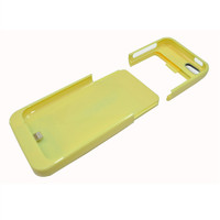External Battery Case for Iphone 5C (Yellow) - 2200 mAh