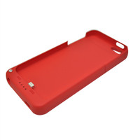 External Battery Case for Iphone 5s (Red) - 2200 mAh