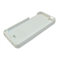 External Battery Case for Iphone 5s (White) - 2200 mAh