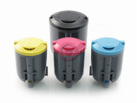 Toner Cartridges Compatible with Samsung CLP-300 Series - Set of 4 Laser Toner Cartridges: 1 each of Black, Cyan, Yellow, Magenta