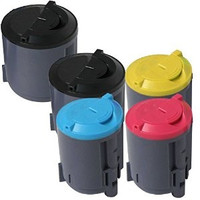 Toner Cartridges Compatible with Samsung CLP-300 Series - Set of 5 Laser Toner Cartridges: 2 each of Black, 1 of each Cyan, Yellow, Magenta