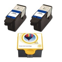 Compatible Kodak #10 - Set of 3 Ink Cartridges: 2 Black, 1 Color