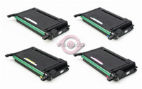 Compatible Samsung CLP-600, CLP-650 Series - Set of 4 Laser Toner Cartridges: 1 each of Black, Cyan, Yellow, Magenta