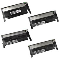Compatible Samsung CLP-360 Series - Set of 4 Laser Toner Cartridges: 1 each of Black, Cyan, Yellow, Magenta