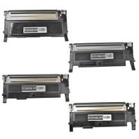 Compatible Samsung CLP-325,CLX-3185 Set of 4 Laser Toner Cartridges (1 Black, 1 Cyan, 1 Magenta, 1 Yellow)