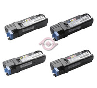 Remanufactured Xerox Phaser 6125 - Set of 4 Laser Toner Cartridges: 1 each of Black, Cyan, Yellow, Magenta