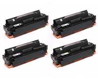 Compatible Canon 046H High Yield Toner Cartridge Set (CMYK)