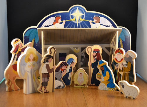 Melissa and Doug Children's wood Nativity set