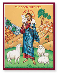 "The Good Shepherd - Monastery Icon - 4""W x 6""H"