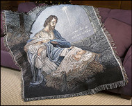 Come Let Us Adore Him Woven Tapestry Throw