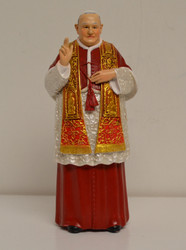 "Saint John XXIII, 6"" figurine by Joseph's Studio and Prayer Card"
