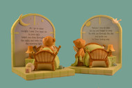 Bookend Set with and Angel Bear and Prayers