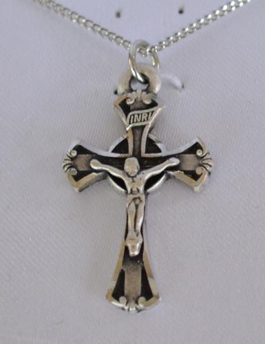 "Pewter 1"" Crucifix pendant"