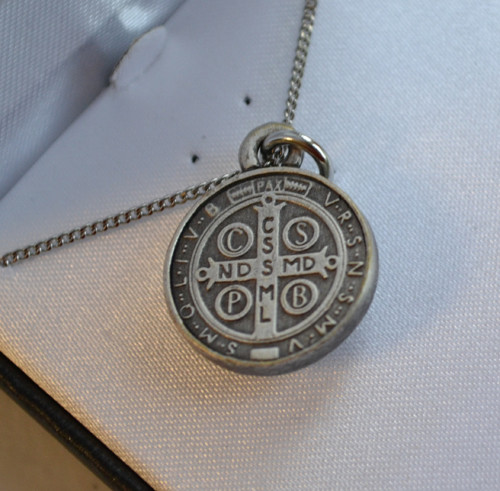 Back of St Benedict Medal, small