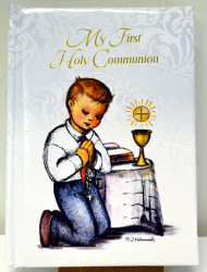 1st Communion prayer book, Berta Hummel illustrations, boy