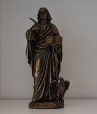 St. John, the Evangelist, Cold-Cast Bronze, 8""