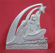 Holy Family Standing Pewter Plaque - 3""