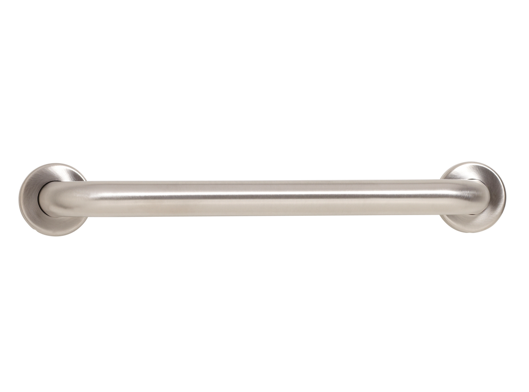 "Seachrome Brushed Stainless Steel Wall Grab Bar - 18"" - GSS-180-QCR"