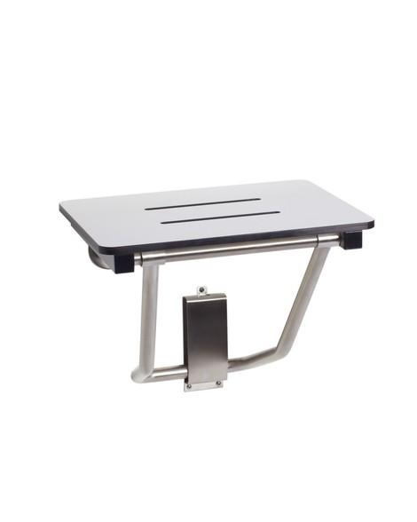 "Seachrome Bench Style 28"" x 15"" Shower Seat Naugahyde White cushion SSB-280150 NW"