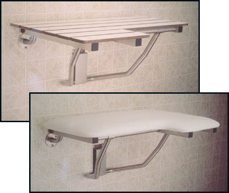 L-Shaped Left Hand Shower Seat Seachrome   32\