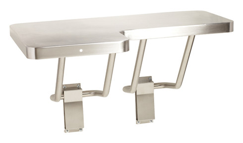 seachrome lshaped stainless steel transfer shower seat