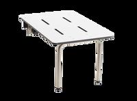 """Edge-Mounted Portable Folding Tub Seat by Seachrome   26.5"""" x 16""""   Phenolic White   STPA-265160"""