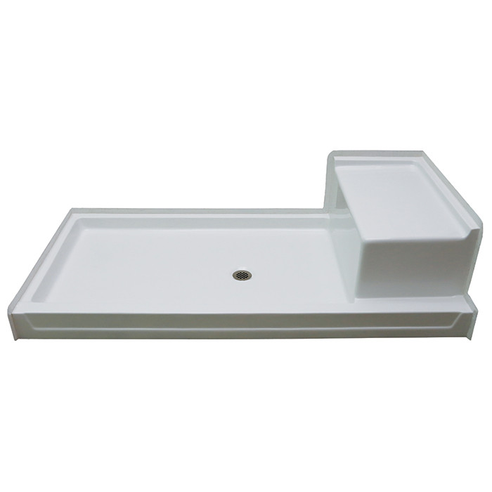 Aquarius Acrylx 72 X 36 Shower Pan With Seat G7236sh