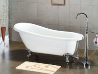 Cambridge 67 x 30 Acrylic Slipper Clawfoot Soaking Bathtub – AST-67