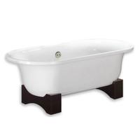 """Cambridge Plumbing - Acrylic Double Ended Wooden Cradle Pedestal Bathtub 70"""" X 30"""" - ADE202"""