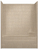 Aquarius Millennia 60 x 33 Gelcoat Tub Shower Combination With Tile Pattern - Drain Right - M6032TSTileR