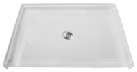 "Aquarius 38 x 38 Barrier Free Gelcoat ADA Compliant Shower Base With 1/2"" Threshold - Center Drain - MPB 3838 BF .5"