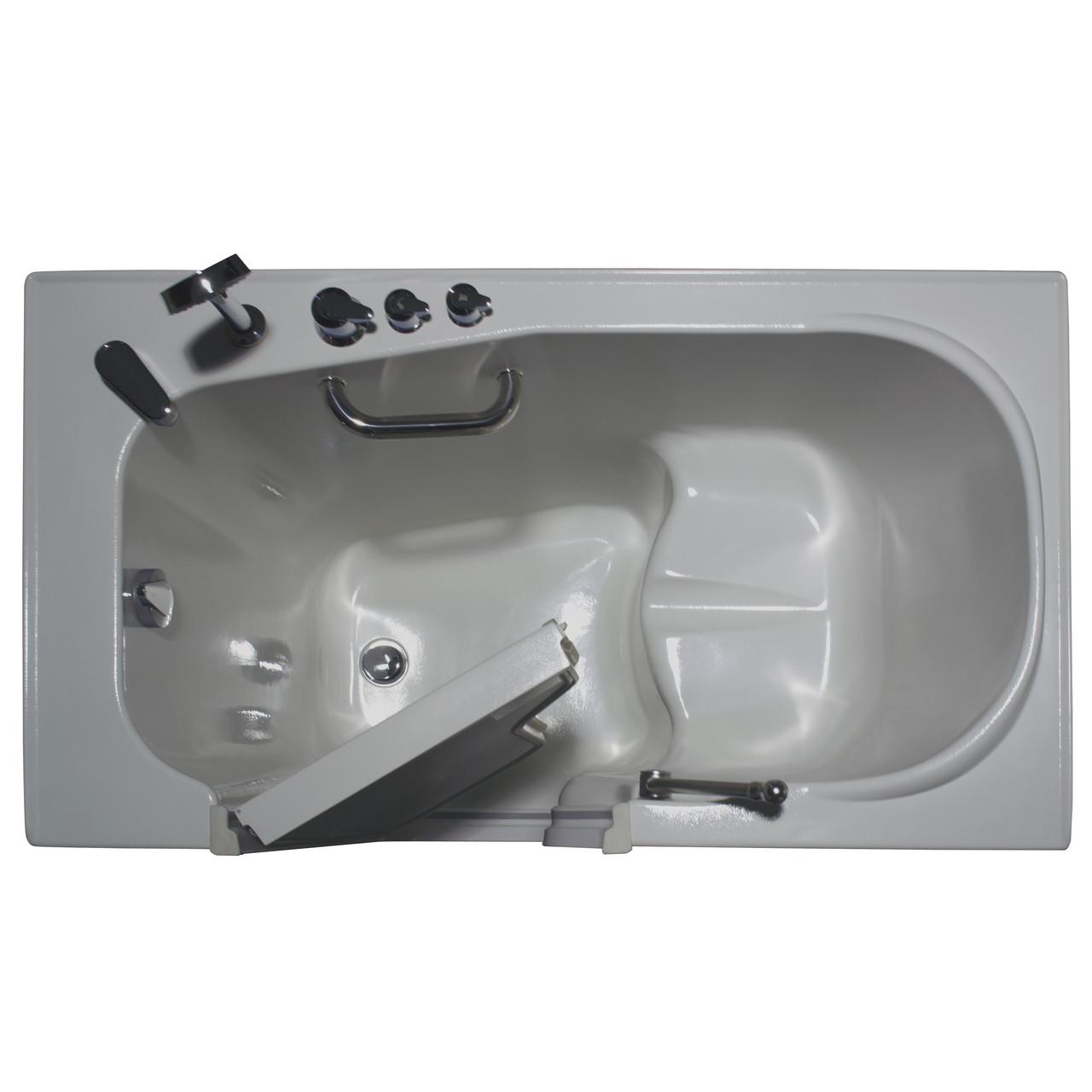 """Homeward Bath Inward Opening Walk-In Tub Heated Air Jets 51x29"""" Aurora HY1223A"""