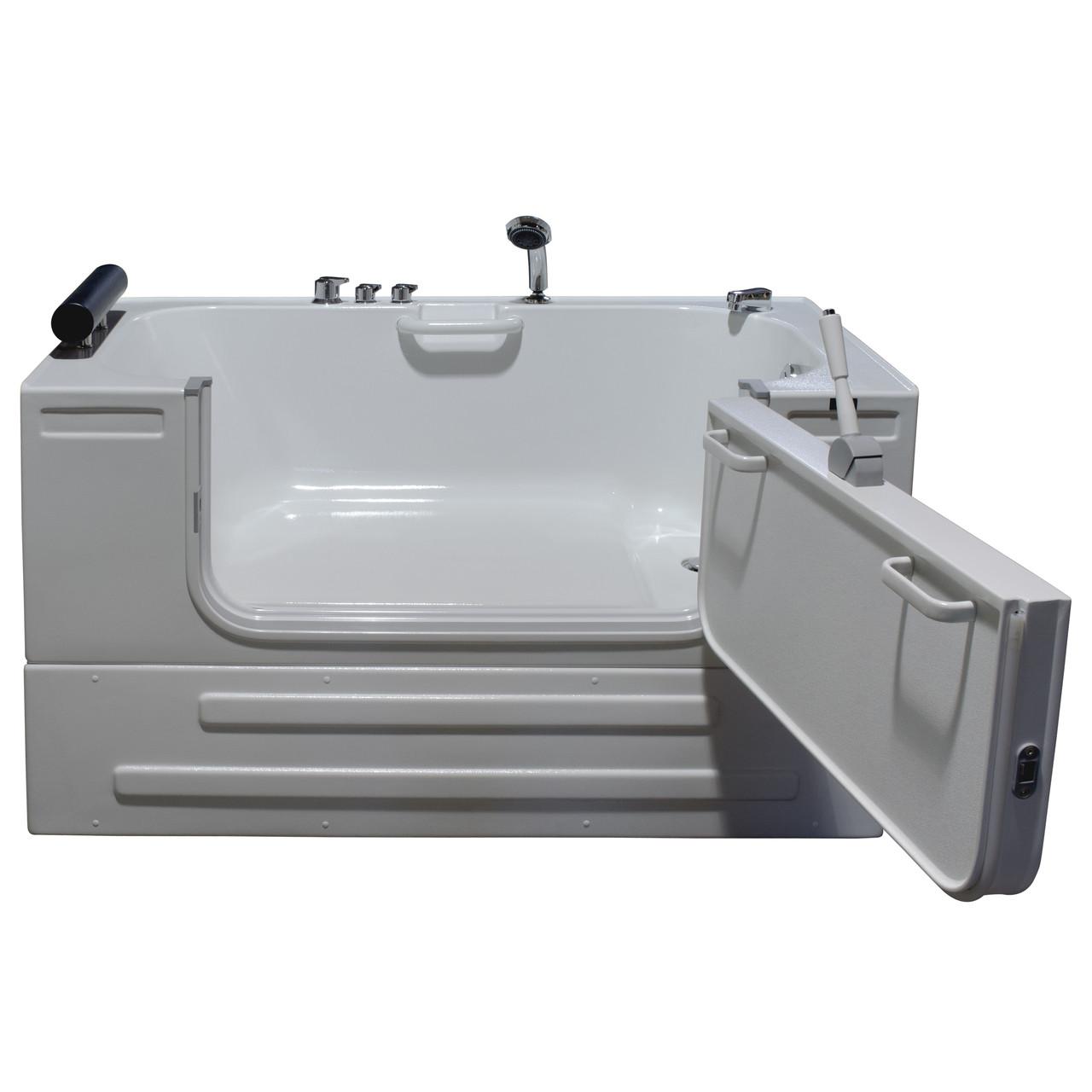 Homeward bath soaking sit in tub 3ft wide outward opening for Wide tub