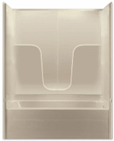 Aquarius Gelcoat 60 x 32.5 Residential Tub Shower Combination 3-Piece Sectional w/ Left Side Drain - G3260TS3PL